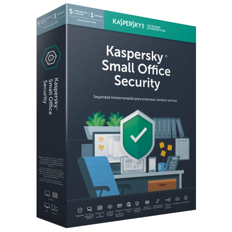 Ver KASPERSKY SMALL OFFICE SECURITY 2019 5 LIC 1 SERVIDOR