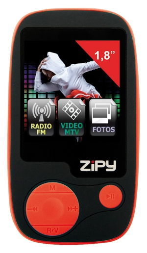 Reproductor Mp4 Zipy 4gb  Rojo 18
