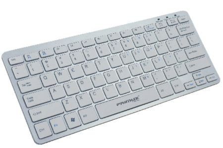 Teclado Usb Primux K100 Ultra Thin Blanco