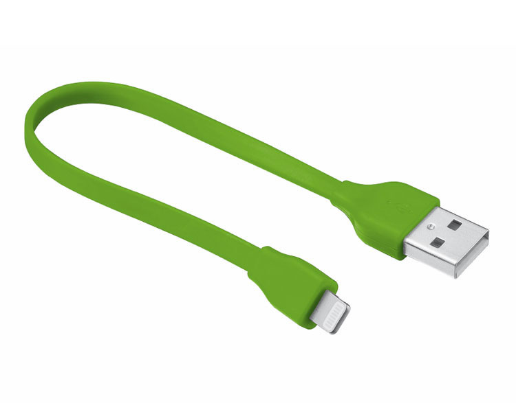 Ver CABLE PLANO USB LIGHTNING 20 CM GREEN URBAN REVOLT
