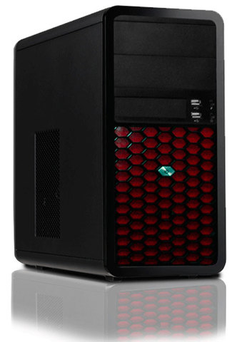 Caja Microatx Lp2204 Fa300w Red Loop
