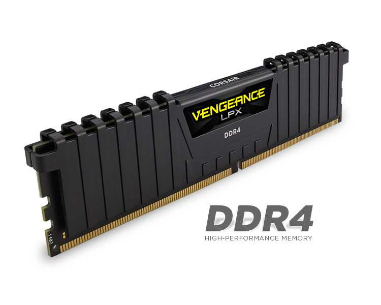 Ver CORSAIR DDR4 16 GB 2X8KIT 2400 VENGEANCE LPX BLACK