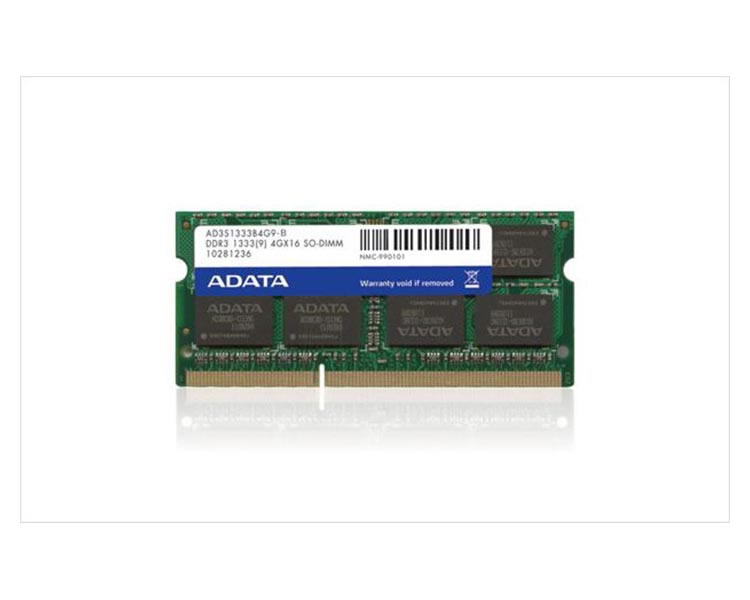 Ver DDR III 2 GB 1333 Mhz NOTEBOOK ADATA