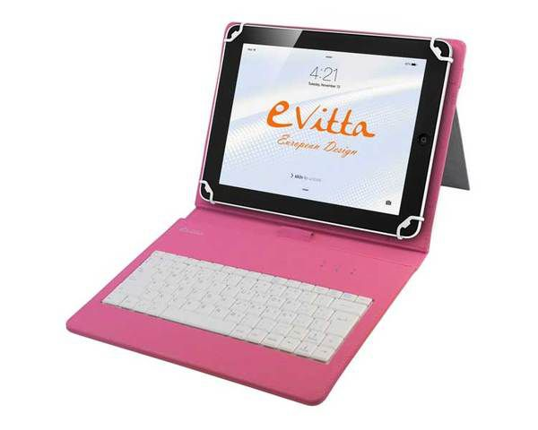 Funda Teclado Tablet 10 1 Keytab Rosa E Vitta