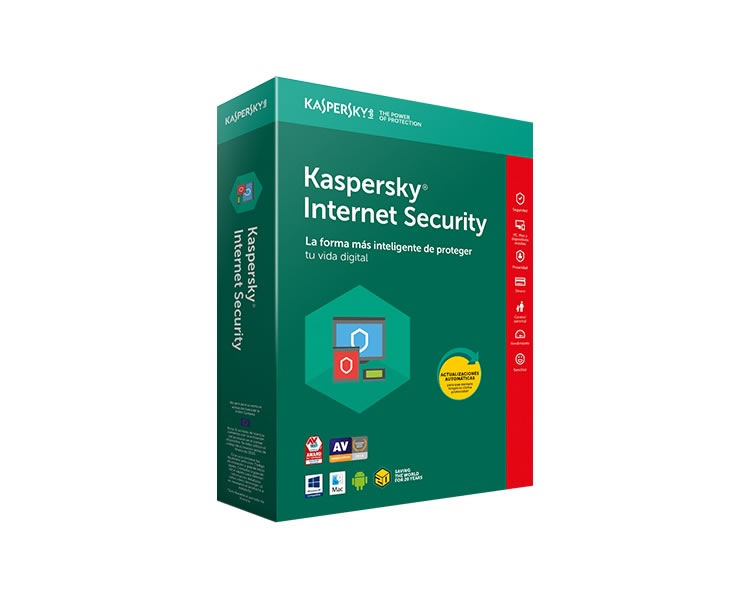 Ver KASPERSKY INTERNET SECURITY MULTIDEVICE 2018 1 Lic