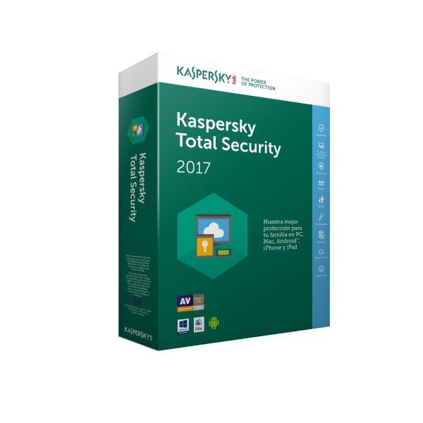 Kaspersky Total Security Multi Device 2017 3usuario s 1ano s Espanol