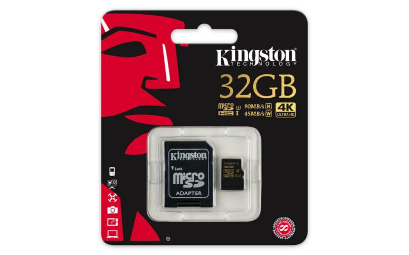 Kingston Gold Microsd Uhs I Speed Class 3 U3 32gb