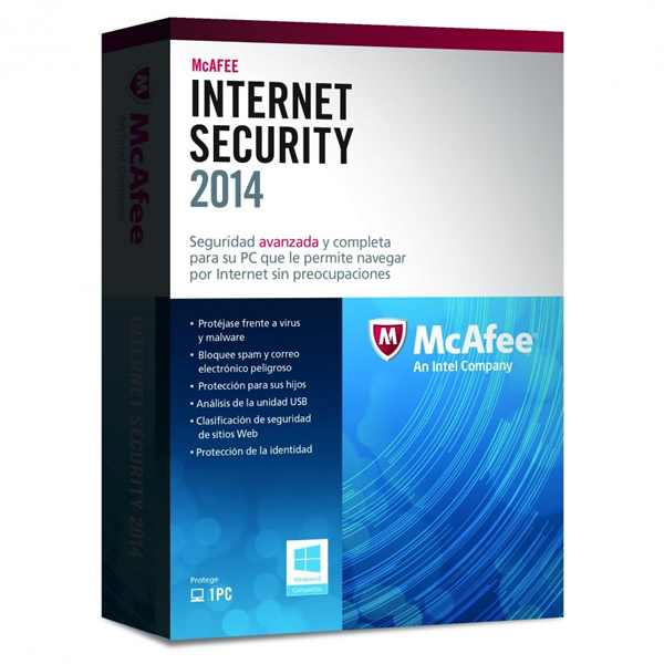 Mcafee Internet Security 2014 1 Lic
