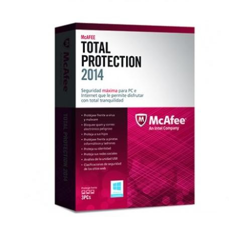 Mcafee Total Protection 2014 3 Lic