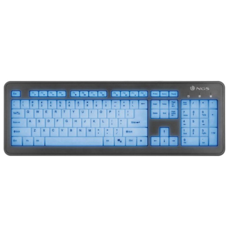 Ver NGS Bluelagoon USB QWERTY Negro