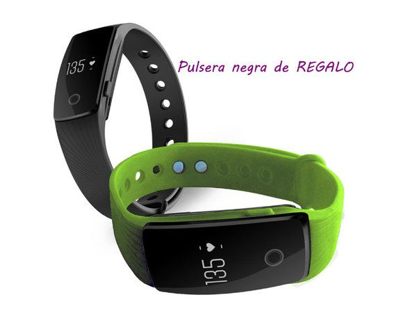Ver Pulsera Fitness Touch Pulse Green Pulsera Negro Leotec