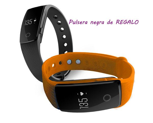 Ver Pulsera Fitness Touch Pulse Orange Pulsera Negro Leotec