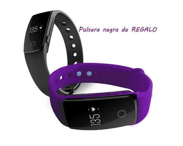 Pulsera Fitness Touch Pulse Violet Pulsera Negro Leotec