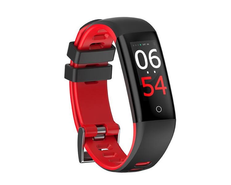 Pulsera Smartband Fitness Fashion Health Roja Leotec