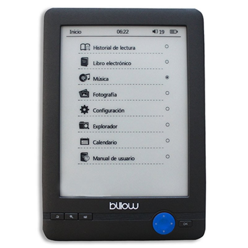 Ver Billow Reader Ebook 6 4 Gb Touch Negro