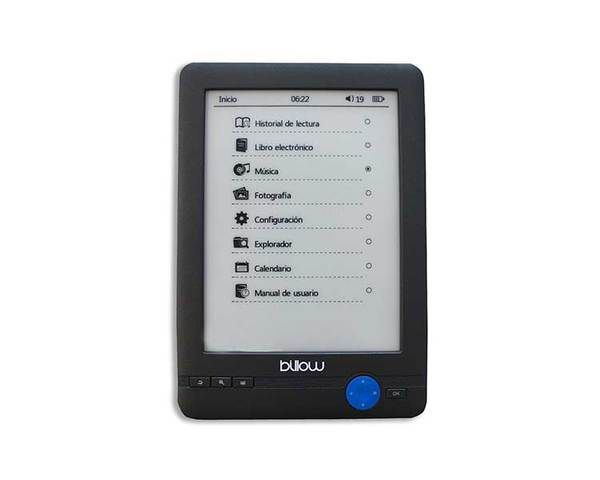 Billow Reader Ebook 6 4 Gb Touch Negro Front Light