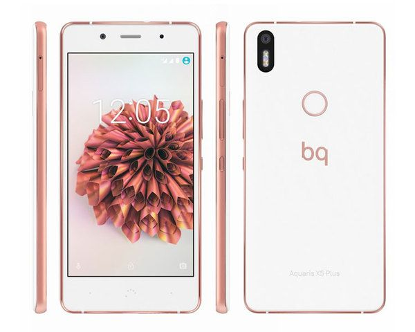 Ver Bq Aquaris X5 Plus 4g 16 2gb Rosa Oro