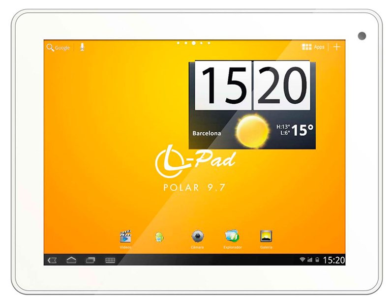 Tablet Polar 97 Hd 8 Gb Dongle Usb 3g White Leotec