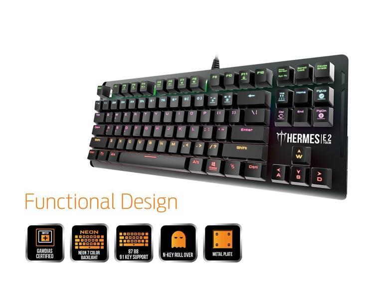 Ver Gamdias Gaming Brown Switch Hermes E2