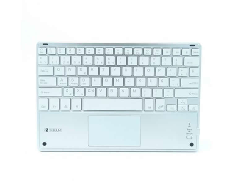 Teclado Smart Backlit Touchpad Bluetooth Plata Subblim