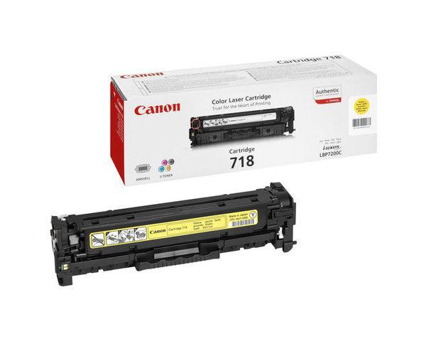 Toner Amarillo Canon Mf724728729cxlbp721076607680 718
