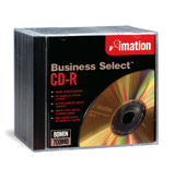 Business Select Cd-r 52x 10pk Slim Jewel Case
