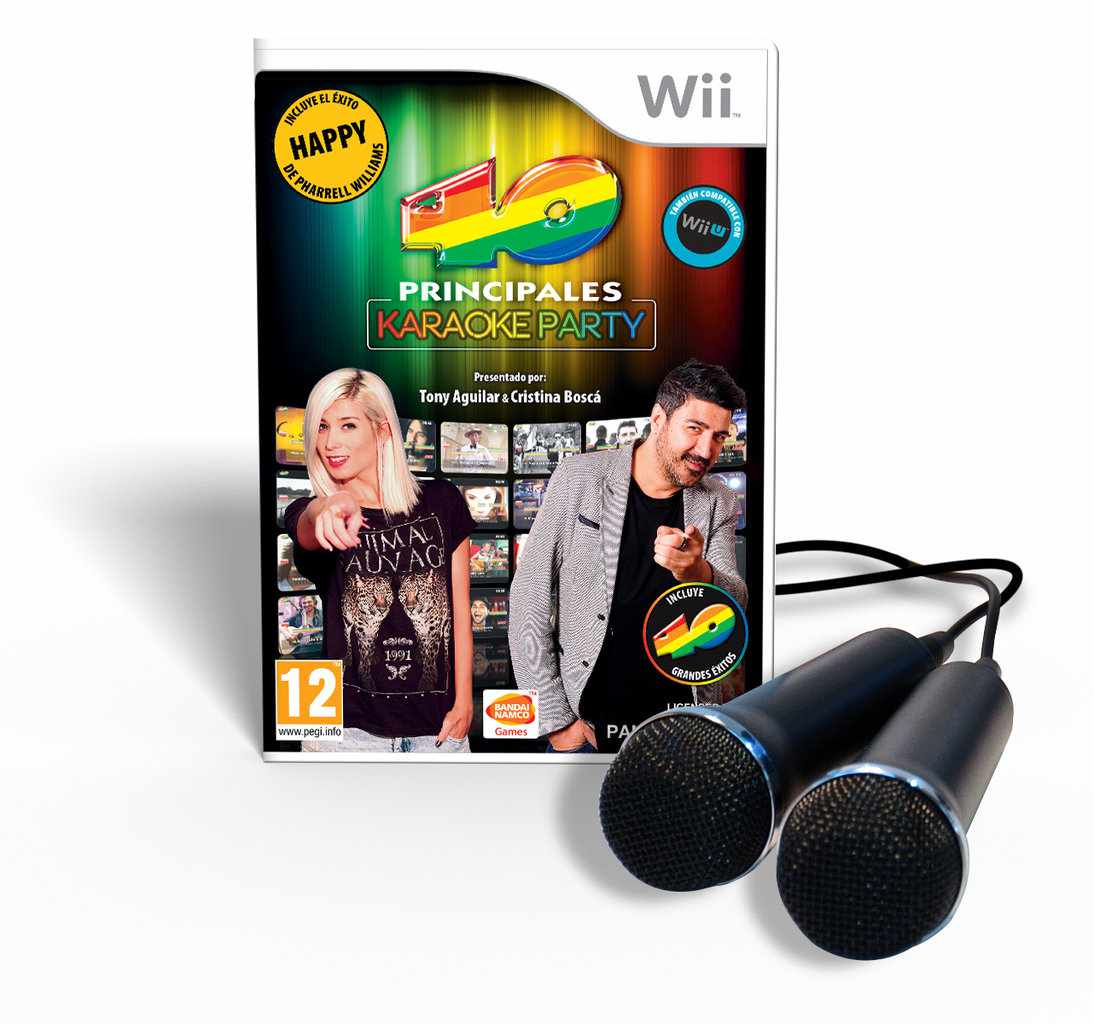 Ver 40 Principales Karaoke Party Bundle  2 Microfonos Wii