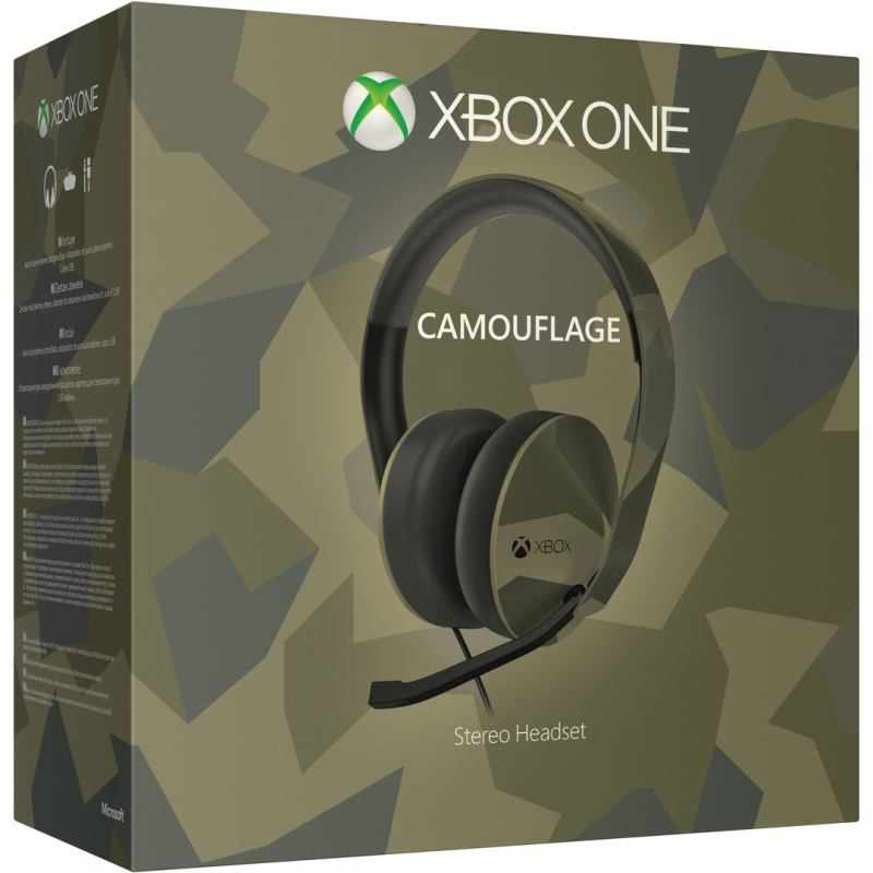 Ver Auriculares Estereo Color Camuflaje Xbox One