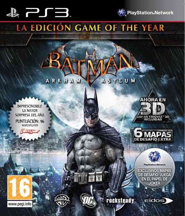 Batman Arkham Asylum Goty Ed Ps3