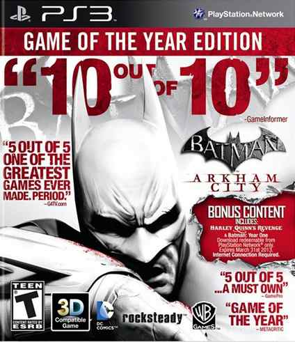Ver BATMAN ARKHAM CITY GOTY PS3