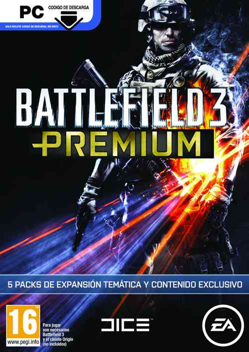 Ver BATTLEFIELD 3 PREMIUM SERVICE  CODE IN A BOX  PC
