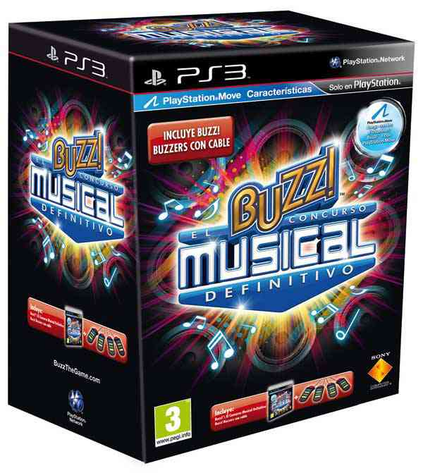 Buzz El Concurso Musical Definitivo   Buzzers Ps3