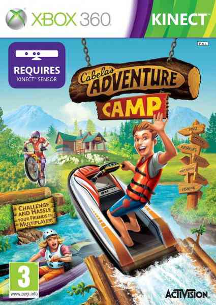 Cabelas Camp Adventures  Outdoor Sports   Kinect  X360