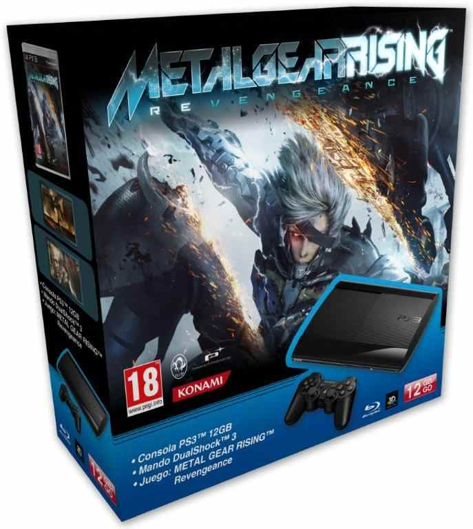 Consola Ps3 Slim 12 Gb   Metal Gear Rising Revengeance
