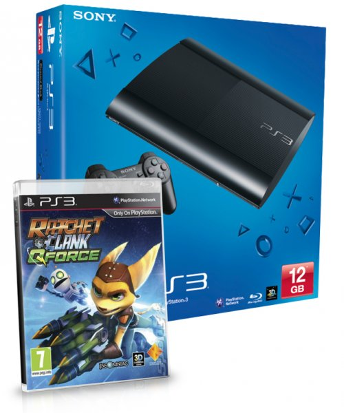 Consola Ps3 Slim 12 Gb   Ratchet  Clank Q Force
