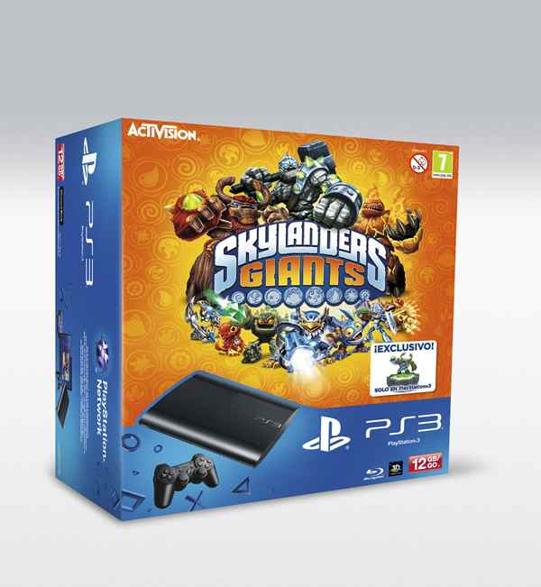 Consola Ps3 Slim 12 Gb   Skylanders Giant Pack Completo