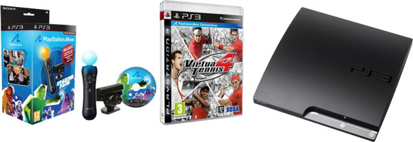 Consola Ps3 Slim 320 Gb   Virtua Tennis 4   Move Starter Pac