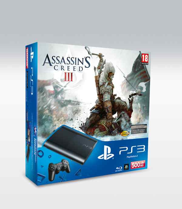 Consola Ps3 Slim 500 Gb   Assassins Creed 3