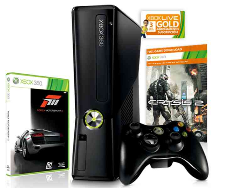 Consola Xbox 360 250 Gb   Forza Motorsport 3   Crysis 2