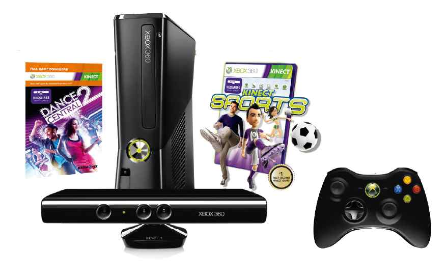 Consola Xbox 360 250 Gb Kinect Dance Cent 2 K Sports K Adv