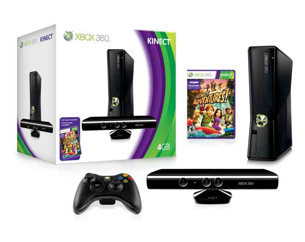 Consola Xbox 360 4 Gb   Kinect   Kinect Adventures