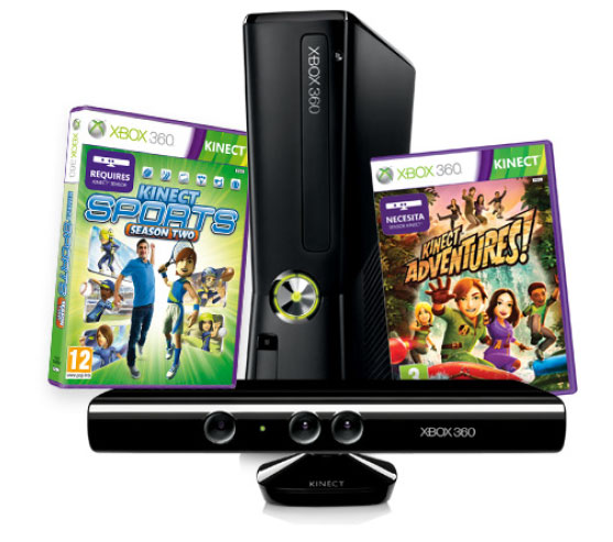 Consola Xbox 360 4 Gb Kinect Kinect Sports 2 Kinect Adventur