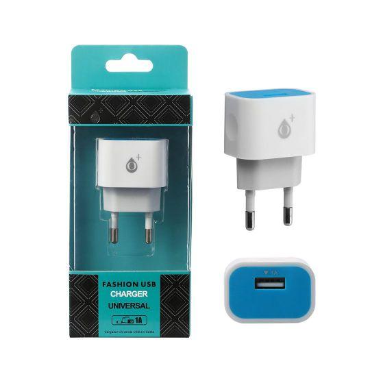 Cargador Red bamboo 1 Puerto USB 1000Mah Azul ONE PLUS