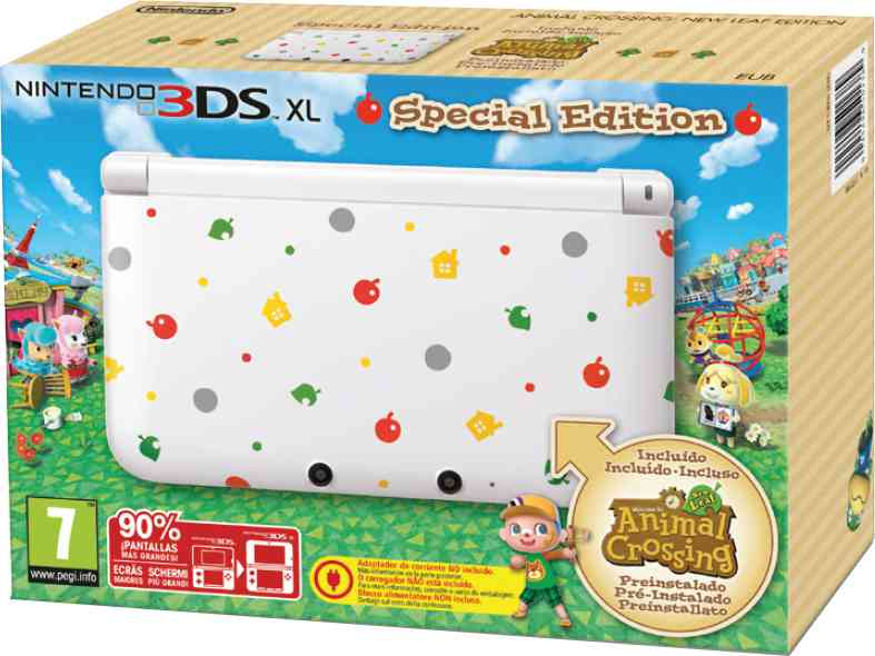 Consola 3ds Xl Ed Especial Animal Crossing New Leaf Preins