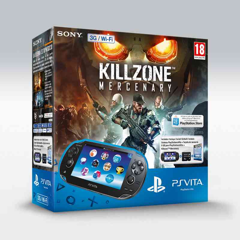 Consola Ps Vita 3g   Killzone Mercenary Voucher