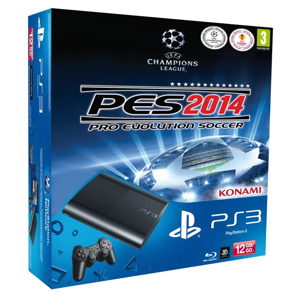 Consola Ps3 Slim 12 Gb   Pro Evolution Soccer 2014