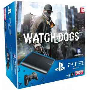 Consola Ps3 Slim 500 Gb  Watch Dogs