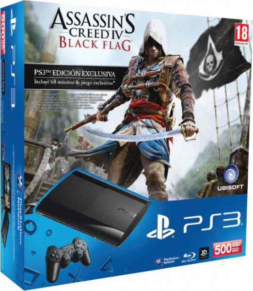 Consola Ps3 Slim 500 Gb Assassins Creed 4 Black Flag