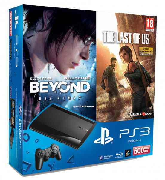 Consola Ps3 Slim 500 Gb Beyond Dos Almas The Last Of Us