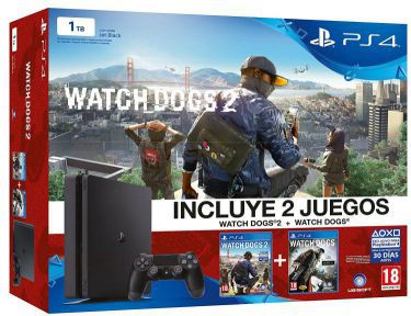 Ver Consola Ps4 1TB Slim Watch Dogs Watch Dog 2